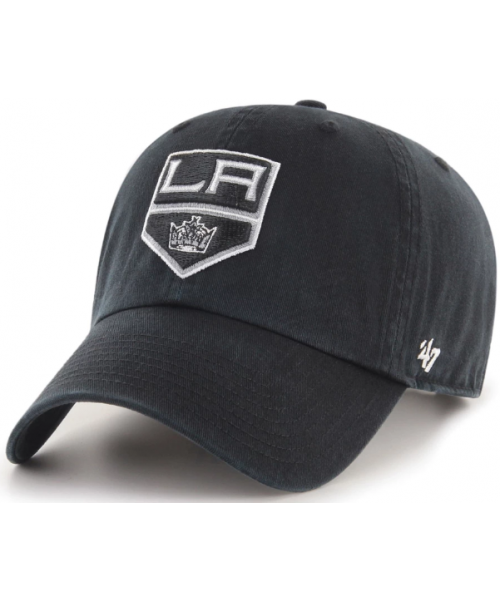 '47 Brand Los Angeles Kings NHL Clean Up Adjustable Strapback Hat Black