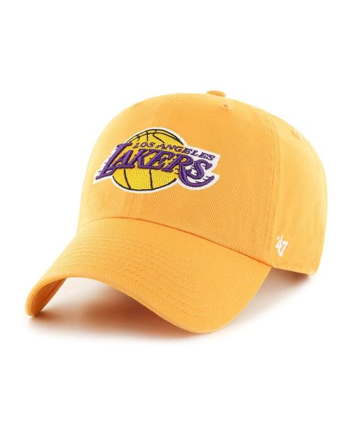 '47 Brand Los Angeles Lakers NBA OSF Clean Up Strapback Hat Yellow