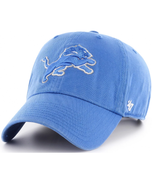 '47 Brand Detroit Lions NFL Clean Up Adjustable Strapback Hat Light Blue