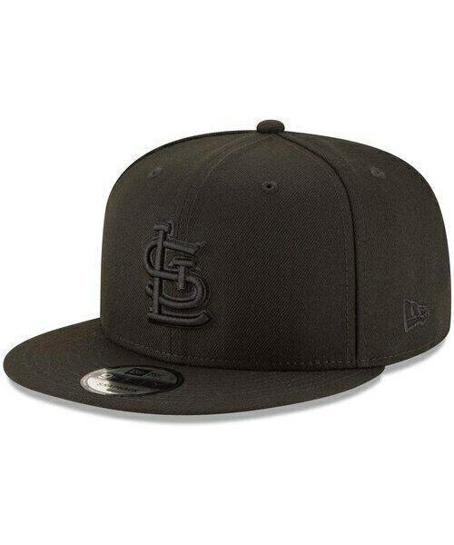 New Era St. Louis Cardinals MLB Basic Snap OSFA 9FIFTY Snapback Hat Black on Black