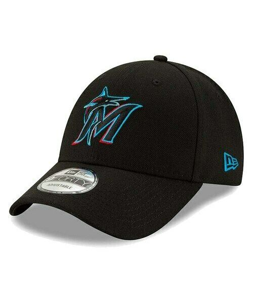 New Era Miami Marlins MLB The League OSFA 9FORTY Velcroback Hat Black