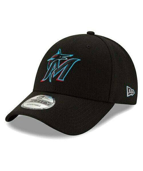 New Era Miami Marlins MLB The League 9FORTY Velcroback YOUTH Hat Black