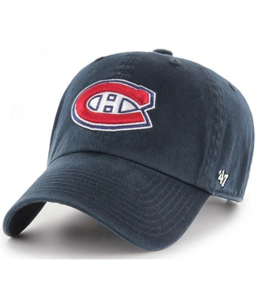 '47 Brand Montreal Canadiens NHL Clean Up Adjustable Strapback Hat Navy Blue