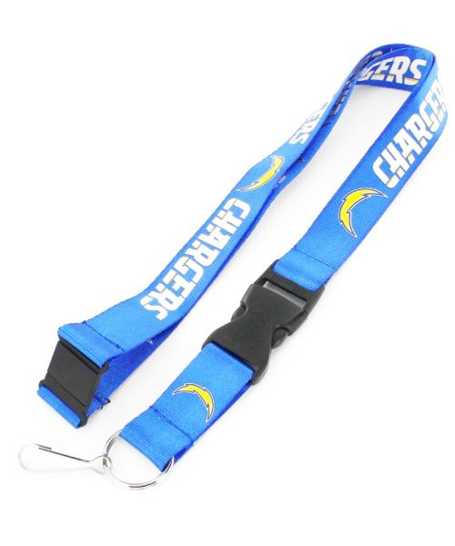 Aminco Los Angeles Chargers NFL Authentic Lanyard Keychain Ring ID Ticket Holder Light Blue