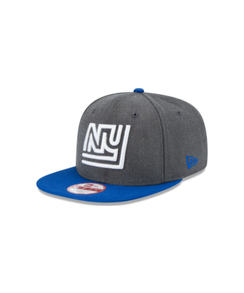 New Era New York Giants NFL Original Fit OTC 9FIFTY Snapback Hat Heather Graphite Gray Blue