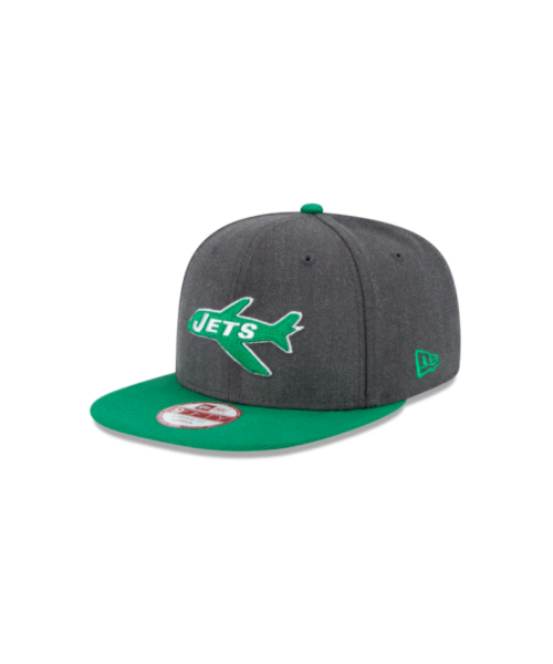 New Era New York Jets NFL Original Fit OTC 9FIFTY Snapback Hat Heather Graphite Gray Green