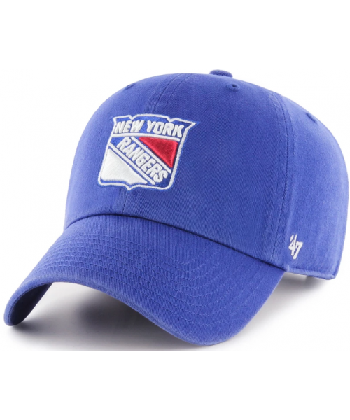 '47 Brand New York Rangers NHL Clean Up Adjustable Strapback Hat Blue
