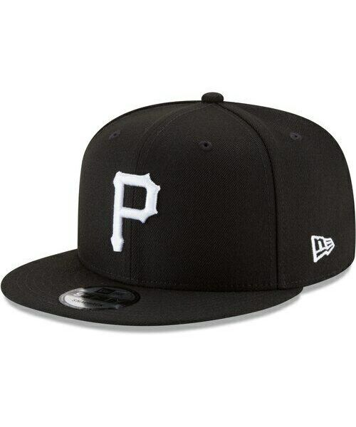 New Era Pittsburgh Pirates MLB Basic Snap 9FIFTY Snapback Hat Black White Logo