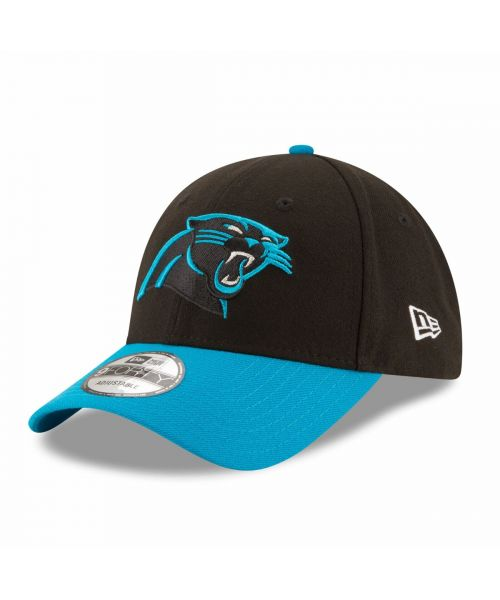 New Era Carolina Panthers NFL The League 9FORTY Velcroback Hat Balck Light Blue