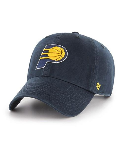 '47 Brand Indiana Pacers NBA OSF Clean Up Strapback Hat Navy Blue