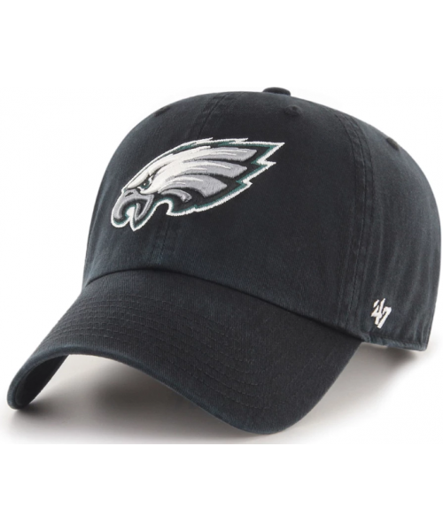 '47 Brand Philadelphia Eagles NFL Clean Up Adjustable Strapback Hat Black