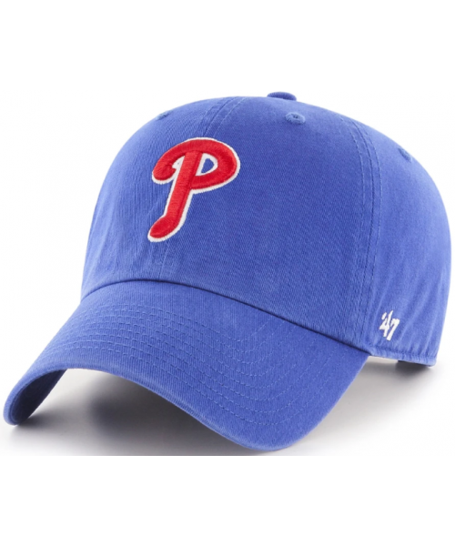 '47 Brand Philadelphia Phillies MLB Clean Up Strapback Hat Blue