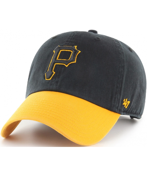 '47 Brand Pittsburgh Pirates MLB OSF Replica Clean Up Strapback Hat Black Yellow