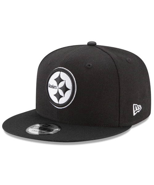 New Era Pittsburgh Steelers NFL Basic BW 9FIFTY Snapback Hat Black