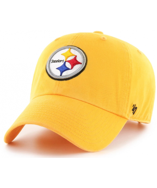 '47 Brand Pittsburgh Steelers NFL Clean Up Strapback Hat Yellow