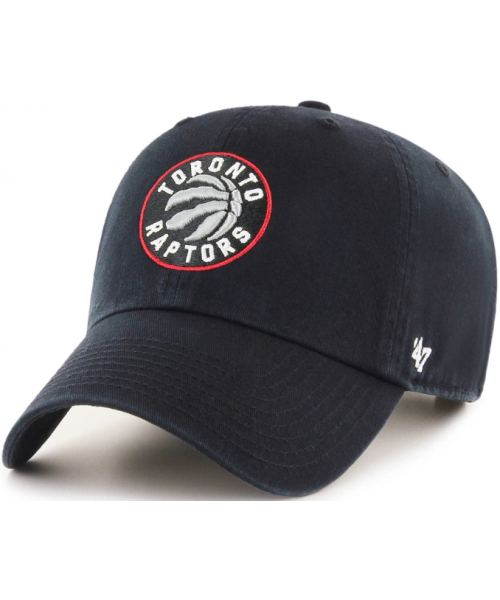 '47 Brand Toronto Raptors NBA Clean Up Adjustable Strapback Hat Black