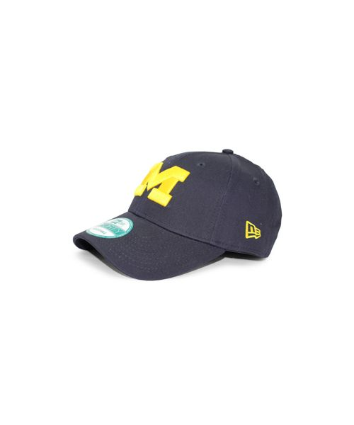 New Era Michigan Wolverines NCAA League OTC 9FORTY Velcroback Hat Navy Blue
