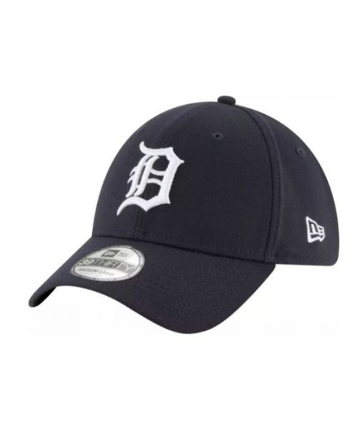 New Era Detroit Tigers MLB Team Classic 39THIRTY Stretch Fit Adult Hat Navy Blue