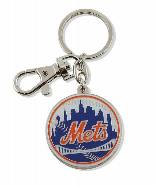 Aminco New York Mets Authentic MLB Heavyweight Metal Team Logo Keychain