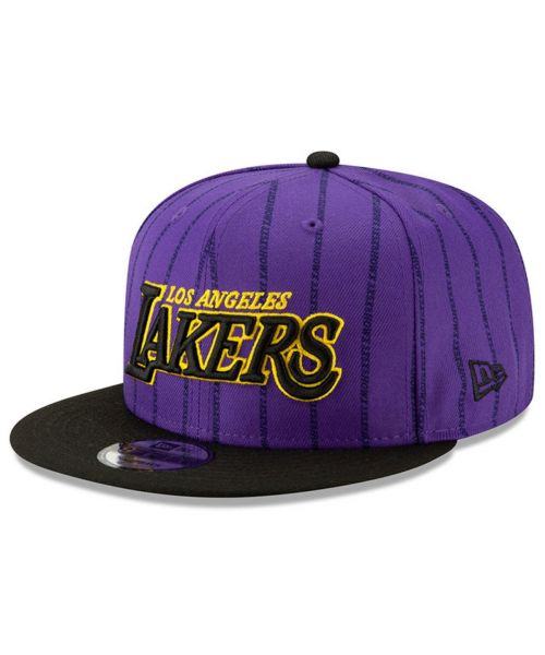 New Era Los Angeles Lakers NBA City Series 2018 9FIFTY Snapback Hat Purple Black
