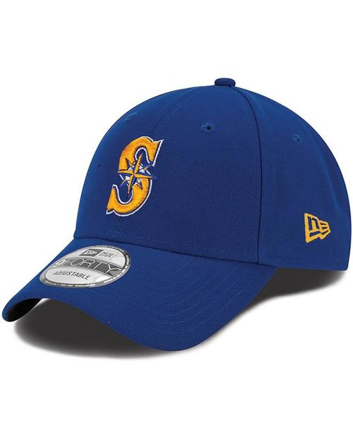 New Era Seattle Mariners MLB The League 9FORTY Adjustable Adult Hat Blue