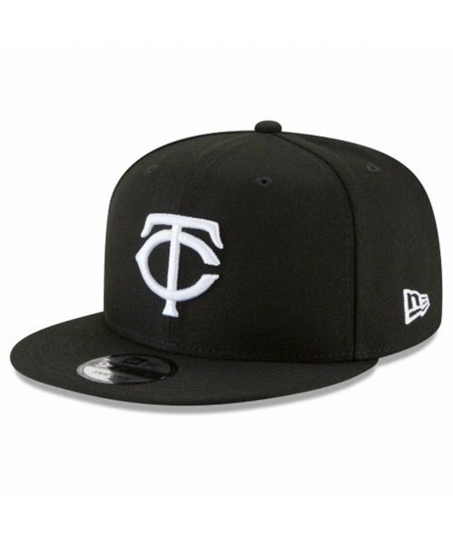 New Era Minnesota Twins MLB Basic Snap 9FIFTY Snapback Adult Hat Black