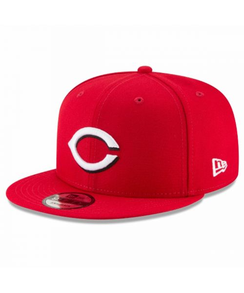 New Era Cincinnati Reds MLB Basic Snap 9FIFTY Snapback Adult Hat Red