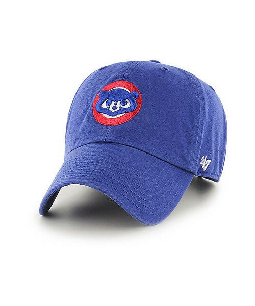 '47 Brand Chicago Cubs Cooperstown MLB Clean Up Strapback Adult Hat Blue