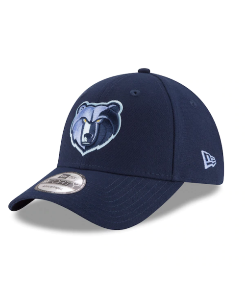 New Era Memphis Grizzlies NBA The League OT 9FORTY Velcroback Hat Navy Blue