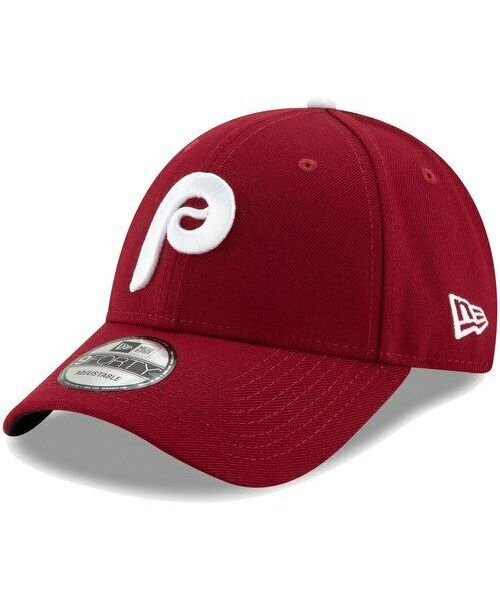 New Era Philadelphia Phillies MLB The League 9FORTY Velcroback Hat Maroon