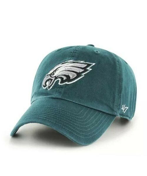 '47 Brand Philadelphia Eagles NFL Clean Up Strapback Hat Green