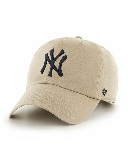 '47 Brand New York Yankees MLB  Clean Up Adjustable  Strapback Hat Tan