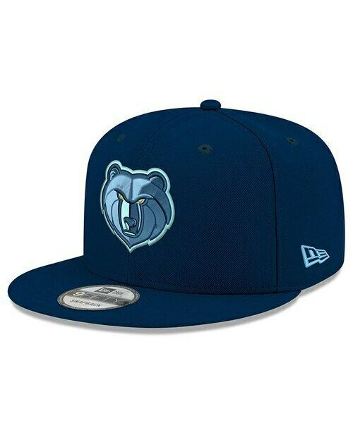 New Era Memphis Grizzlies NBA OTC OSFA 9FIFTY Snapback Hat Navy Blue