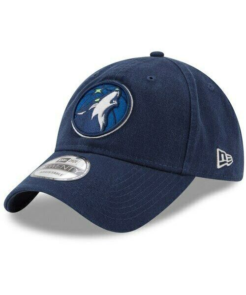 New Era Minnesota Timberwolves NBA Core Classic TW 9TWENTY Strapback Hat Navy Blue