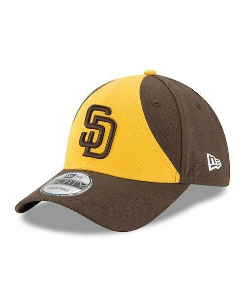 New Era San Diego Padres MLB The League 9FORTY Velcroback Hat Yellow Brown