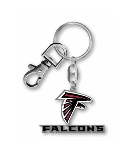 Aminco Atlanta Falcons Authentic NFL Heavyweight Metal Team Logo Keychain Black Red