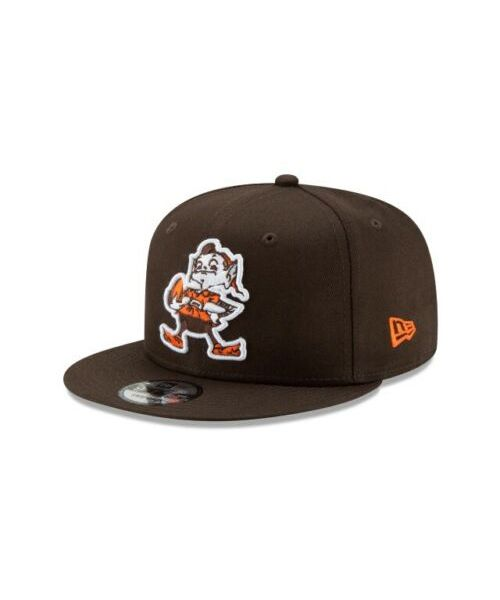 New Era Cleveland Browns NFL Historic Elf Basic Snap 9FIFTY Snapback Adult Hat Brown