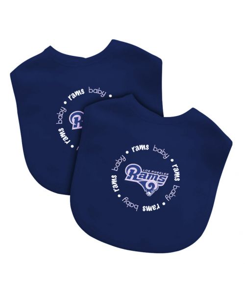 Baby Fanatic Los Angeles Rams NFL Authentic Bib 2pack Navy Blue White
