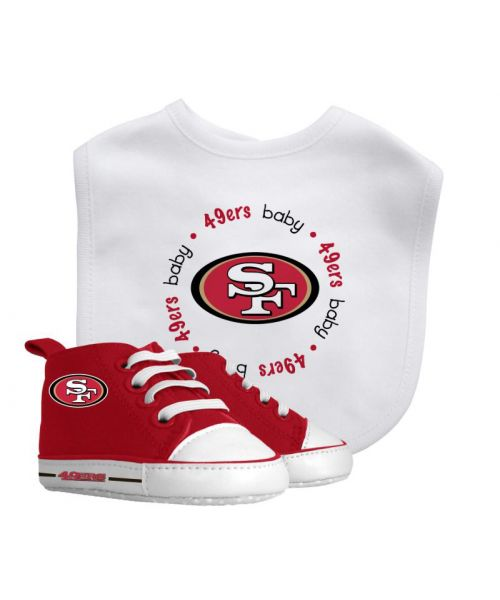 Baby Fanatic San Francisco 49er NFL Authentic Bib and Prewalkers Set White Red