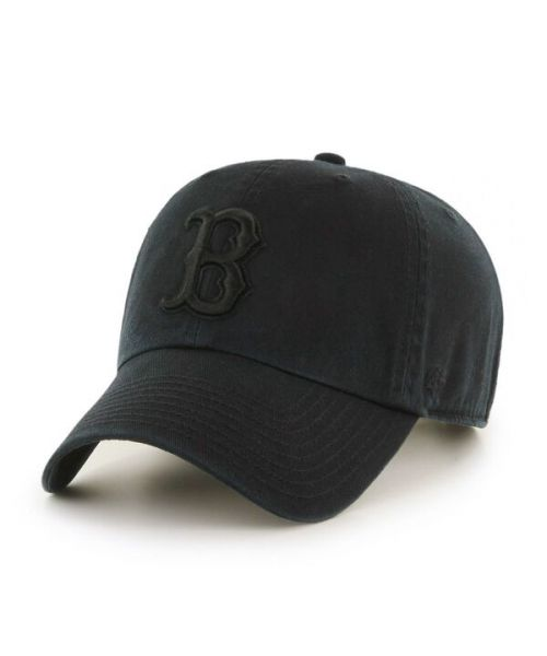 '47 Brand Boston Red Sox MLB Clean Up Adjustable Adult Hat Black On Black