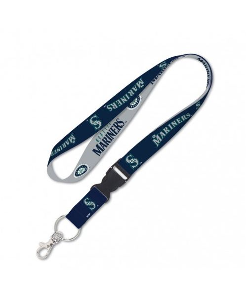 Wincraft Seattle Mariners MLB Authentic Lanyard with Detachable Buckle Gray Navy Blue