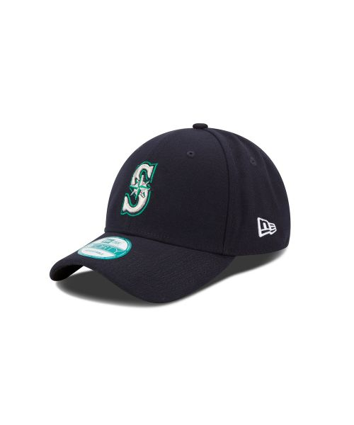 New Era Seattle Mariners MLB JR The League YOUTH 9FORTY Velcroback Hat Navy Blue