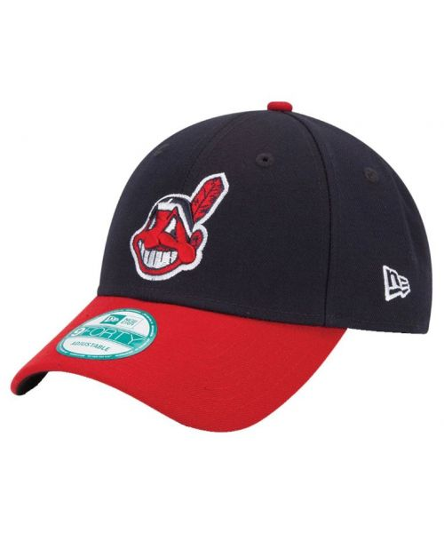 New Era Cleveland Indians MLB The League 9FORTY Velcroback Hat Navy Blue