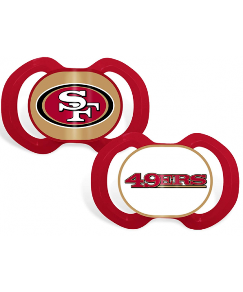 Baby Fanatic San Francisco 49ers NFL 2-Pack Pacifier Red