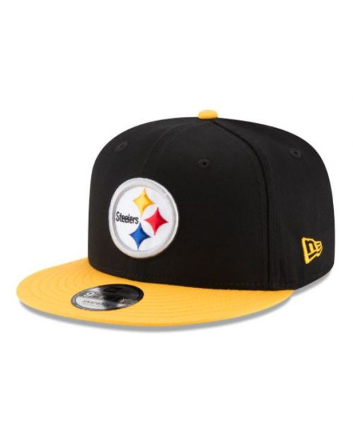 New Era Pittsburgh Steelers NFL Kid Baycik 9FIFTY Snapback YOUTH Hat Black Yellow