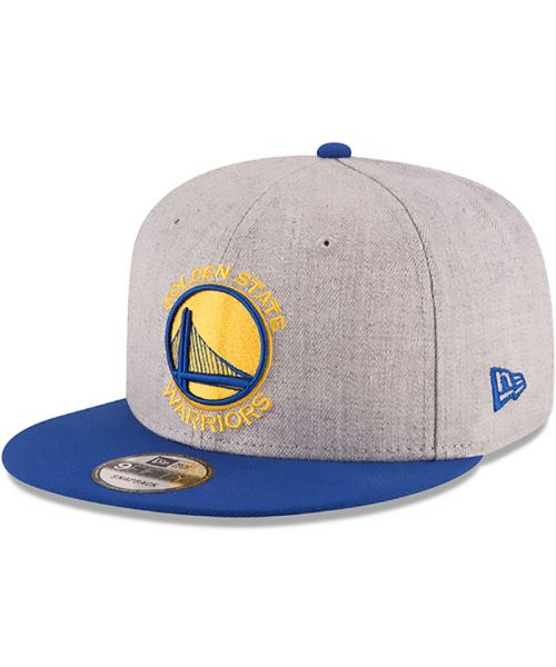 New Era Golden State Warriors NBA 2Tone 9FIFTY Snapback Adult Hat Heather Gray Blue