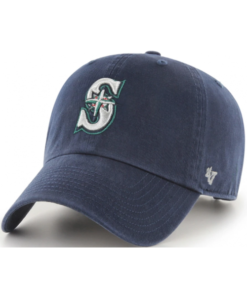 '47 Brand Seattle Mariners NBA Clean Up Adjustable Strapback Hat Navy