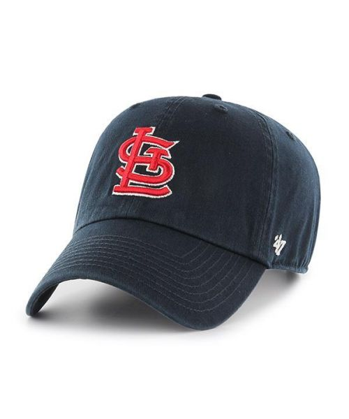 '47 Brand St. Louis Cardinals MLB Clean Up Adjustable Strapback Hat Navy Blue