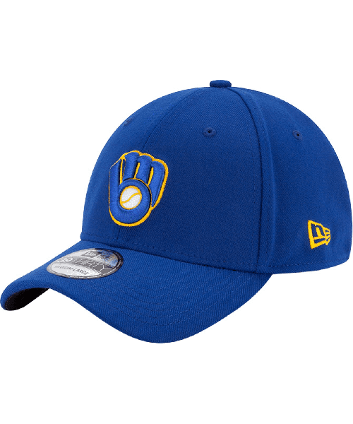 New Era Milwaukee Brewers MLB Team Classic 39THIRTY Stretch Fit Hat Blue