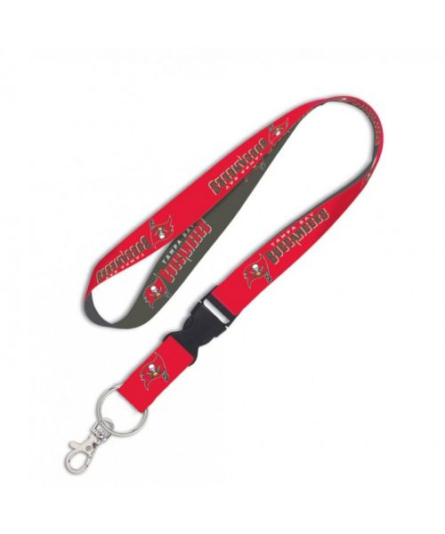 Wincraft Tampa Bay Buccaneers NFL Authentic Lanyard with Detachable Buckle Red Black